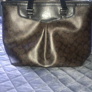Leather Coach bag